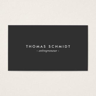 Einfache unbedeutendes Schwarz Moderne berufliche Visitenkarte