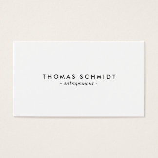 Einfache unbedeutendes solide Weiß berufliche Visitenkarte
