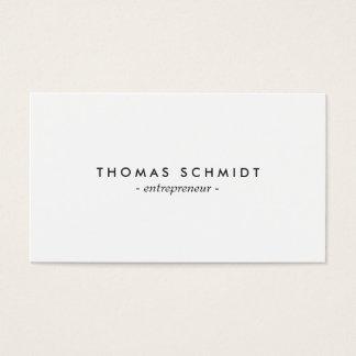 Einfache unbedeutendes solide Weiß berufliche Visitenkarten