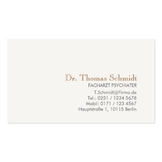 Einfache und elegante berufliche Psychiater Visitenkartenvorlagen