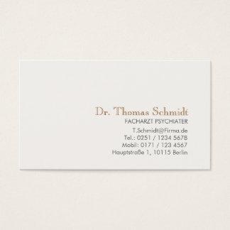 Einfache und elegante berufliche Psychiater Visitenkarten