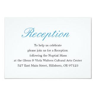 Einfache und elegante Empfangs-Karte 8,9 X 12,7 Cm Einladungskarte
