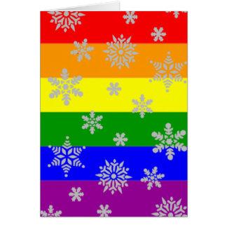 Einfache und elegante homosexuelle Weihnachtskarte Karte