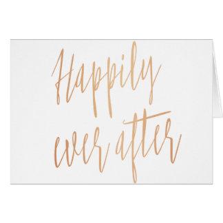 """Einfache und schöne """"glücklich seitdem"""" Hochzeit Karte"""