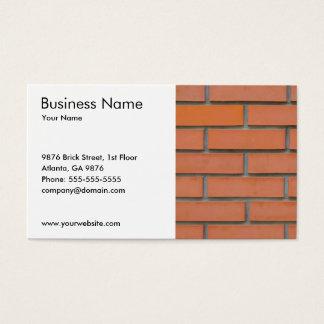 Einfache Wand-Bau-Gebäude-Industrie Visitenkarte