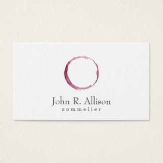 Einfache Wein-Flecksommelier-Visitenkarte Visitenkarte