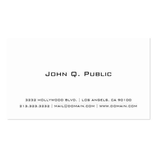 Einfache weiße Visitenkarte