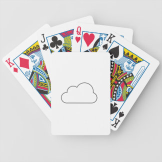 Einfache Wolke Bicycle Spielkarten