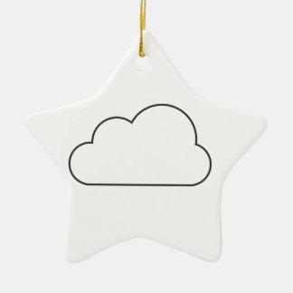 Einfache Wolke Keramik Ornament
