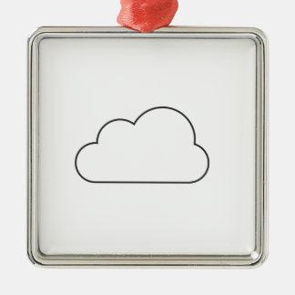 Einfache Wolke Silbernes Ornament