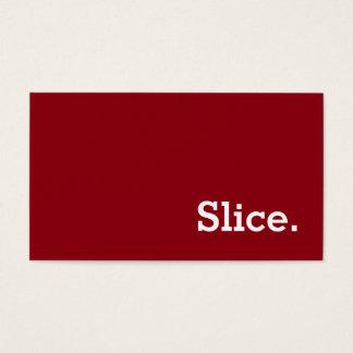 Einfache Wort-Scheibe-Loyalitäts-Lochkarte Visitenkarte