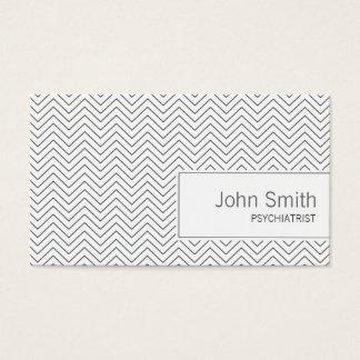 Einfache Zickzack-Psychiaters-Visitenkarte Visitenkarte