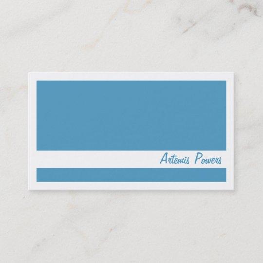 Einfache Zwei Färben Visitenkarte Blau Und Weiß