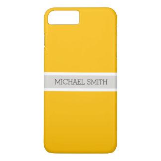 Einfacher bernsteinfarbiger Hintergrund-moderner iPhone 8 Plus/7 Plus Hülle