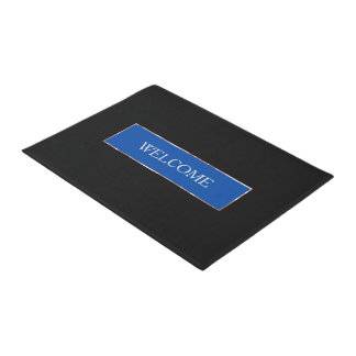 Einfacher blauer Rahmen Türmatte