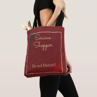 Einfacher Burgunder mit GoldText>Shopaholic Tasche