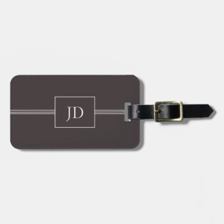 Einfacher eleganter dunkelgrauer kofferanhängern