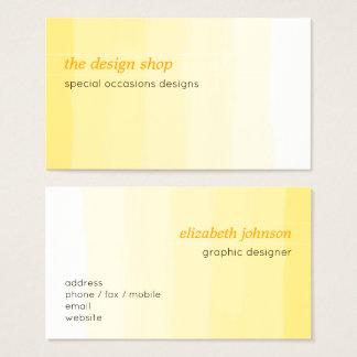 Einfacher eleganter einfacher gelber visitenkarte