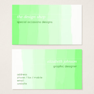 Einfacher eleganter einfacher grüner visitenkarte