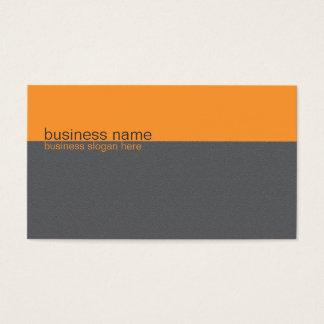 Einfacher eleganter einfacher orange/grauer visitenkarte