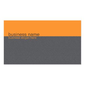 Einfacher eleganter einfacher orange/grauer visitenkarten