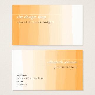 Einfacher eleganter einfacher orange visitenkarte