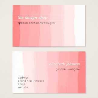Einfacher eleganter einfacher rosa visitenkarte