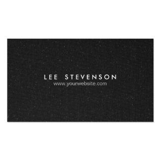 Einfacher eleganter gesprenkelter schwarzer visitenkarten vorlage