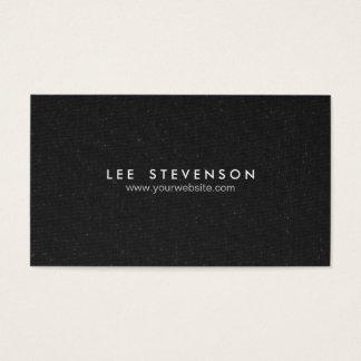 Einfacher eleganter gesprenkelter schwarzer visitenkarte