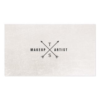 Einfacher eleganter Maskenbildner Schwarzweiss Visitenkarte