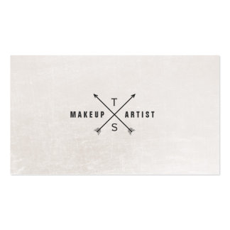 Einfacher eleganter Maskenbildner Schwarzweiss Visitenkarten