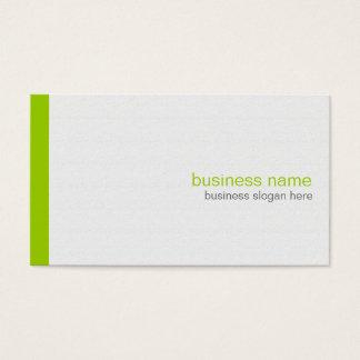 Einfacher eleganter moderner einfacher grüner visitenkarte