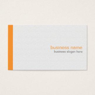 Einfacher eleganter moderner einfacher orange visitenkarte