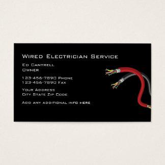 Einfacher Elektriker Visitenkarte