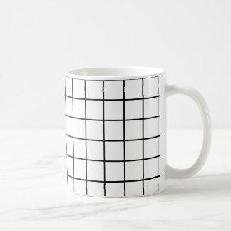 Einfacher Entwurf kariertes quadratisches Muster - Kaffeetasse