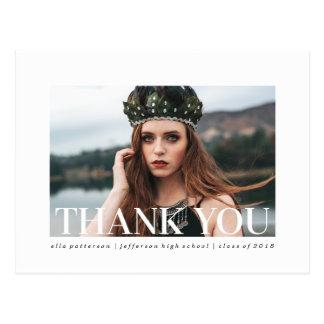 Einfacher Foto-Abschluss der Art-| danken Ihnen zu Postkarte