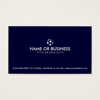 einfacher Fußball Visitenkarten