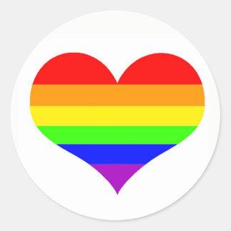 Einfacher Gay Pride-Aufkleber Runder Aufkleber