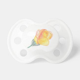 Einfacher gelber Rosen-Schnuller Schnuller
