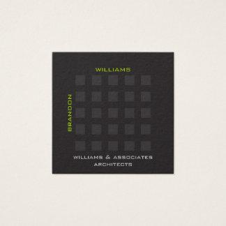 Einfacher geometrischer Architekt beruflich Quadratische Visitenkarte