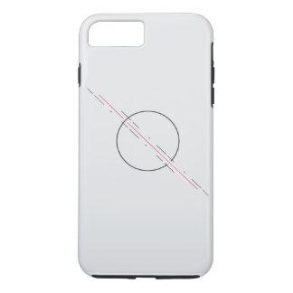 Einfacher geometrischer iPhone 7 Telefonkasten iPhone 8 Plus/7 Plus Hülle