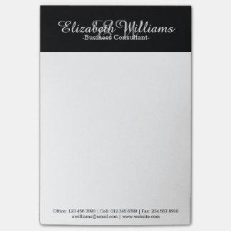 Einfacher glatter schwarzer beruflicher post-it klebezettel