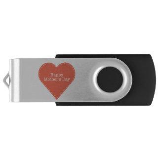 Einfacher glücklicher Mutter-Tag mit Herzen USB Stick