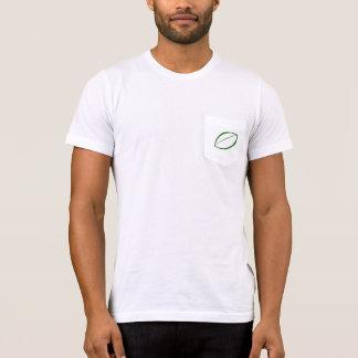 Einfacher grüner Blattentwurfs-T - Shirt mit