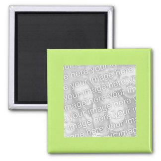 einfacher grüner Fotorahmen Quadratischer Magnet
