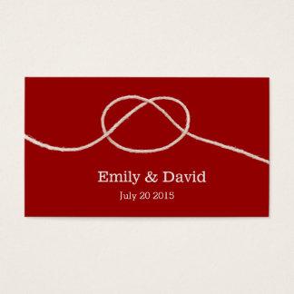 Einfacher Knoten-rote Visitenkarte