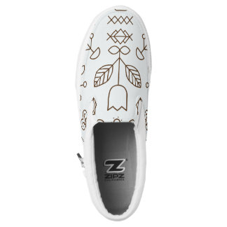 Einfacher Linien und Formen Beleg an Slip-On Sneaker