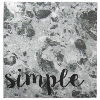 Einfacher Marmor Stoffserviette