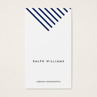 Einfacher Minimalist professional Nautical blue Visitenkarte