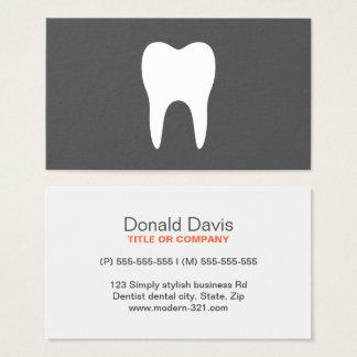 Einfacher minimalistic Zahnarzt des weißen Zahnes Visitenkarte